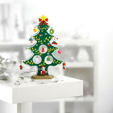 Wooden Novelty Tree Mini Tabletop Desk Decor Home Office Baubles Festival Gifts