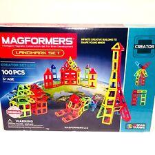 Magformers Landmark Set 100 Pieces Magnetic Construction Building Blocks STEM
