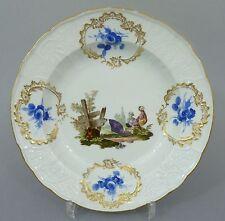 Meissen Teller, Dulong Relief, Vogel- / Enten- Motiv, um 1800