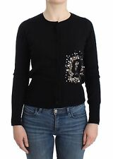 NWT $300 JOHN GALLIANO Black Branded Twinset Cardigan Sweater Knit Top XXS/US 2