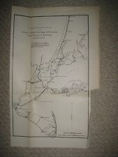 ANTIQUE 1887 NEW YORK CITY STATEN LONG ISLAND BROOKLYN SPIRIT LEVELING MAP RARE