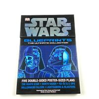 Star Wars Blueprints The Ultimate Collection Double Sided Posters (Set of 5) EUC