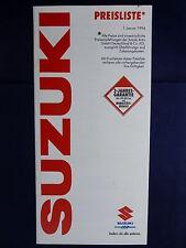 Suzuki Vitara / SJ / Swift / Carry - Preisliste - Prospekt Brochure 01.1994