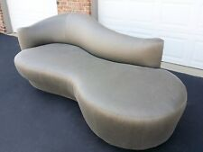 Authentic Kagan Weiman Sofa Mid Century Gray Cloud