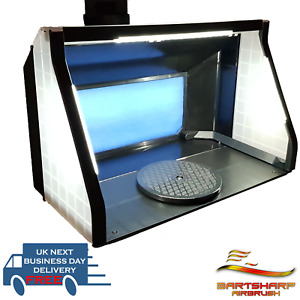 LARGE Portable Airbrush Spray Booth LEDs Exhaust Kit Twin Motors 9m³ P/M SB04