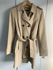 Massimo Dutti Lined Belted Trench Coat Size Medium VGC