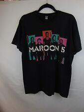 """Maroon 5"" Concert 2013 Men L T-Shirt Black ""Maroon 5"" White Letters T Shirt"