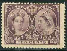 Canada Scott 57 -10c Jubilee Mint Hinged with Thin and Flaws CV $120