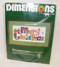 New Dimensions 8301 Merry Christmas Patchwork - Santa - Counted Cross Stitch Kit