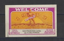 US Poster Stamp Olympics 1932 San Francisco Imperf