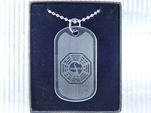 DHARMA Lost Initiative Ying Yang Dog Tag Necklace