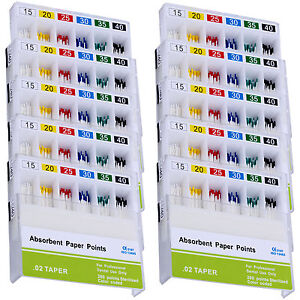 20Set AZDENT Dental Absorbent Paper Points 0.02 For Root Endodontic Endo 15-40#