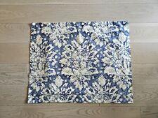 """Pottery Barn Standard Pillow Sham Blue Beige Floral 20x26"""" Organic Sateen Cotton"""