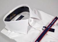 Camicia Moda Uomo Ingram Slim Fit Bianca Cotone No Stiro Cottonstir Taglia 44 XL