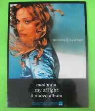 CARTONATO ADVERTISE PROMO MADONNA rAY OF LIGHT 17,5 x 25 RARO no cd dvd lp mc