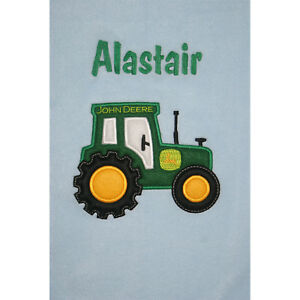 FARM TRACTOR Personalised & Applique Super Soft Fleece Baby Blanket