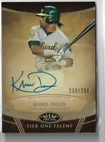 2019 Topps Tier One Baseball Khris Davis Tier One Talent 239/299 Oakland A's