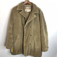 Diesel Mens Sz Large Brown Corduroy Sherpa Button Coat Jacket Rare