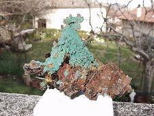 - Minerali Grezzi Cristalloterapia - RAME nativo con MALACHITE e QUARZO (44)