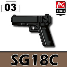 SG18 (W188) 9mm Pistol Compatible with toy brick minifigures Police Army SWAT
