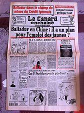 Le Canard Enchainé 6/4/1994; Balladur en Chine et l'emploi des jaunes !
