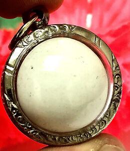 Holy Sarira Pra Tath Sam Roi Yod Buddha EYE SUN Relics Thai Sphere Amulet K898