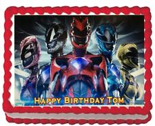 Power Rangers Image Birthday Party Icing Edible Cake Topper 1/4 Frosting sheet