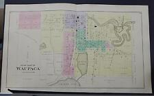 Wisconsin, Waupaca County Map, 1889 City of Waupaca Two Double Pages Q2#97