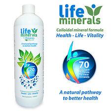 Life Minerals 500ml, 70+ Plant Derived LIQUID Minerals, Pure Colloidal Minerals