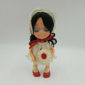 Vintage 1960's Uneeda Little Sophisticates Doll w/Flower in Her Hand, Hong Kong