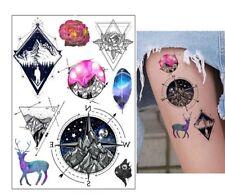 Set Small Temporary Tattoo Stickers Body Art Waterproof Little Animals