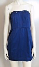 NWT Free People Navy Blue Strapless Full-Zip-Back Sexy Dress Size 12 MSRP $98