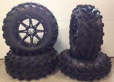 "MSA Black Diesel 14"" ATV Wheels 27"" Swamp Lite Tires Yamaha Grizzly Rhino"