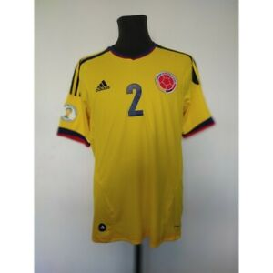 Colombia soccer jersey Adidas 2013 Size M World Cup Qualifiers 2014 Match worn