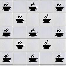 Coffee Cup Wall Stickers x 12/Tegola Decalcomanie trasformare il vostro muro da cucina/bar/ECT