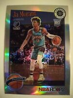 2019-20 NBA Hoops Premium Stock Ja Morant RC Tribute Rookie SILVER PRIZM No. 297