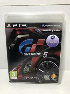 PLAYSTATION 3 - PS3 - GRAN TURISMO 5 - COMPLETE WITH MANUAL - FREE P&P