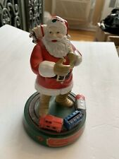 Coca Cola Christmas Bank By The ERLT Company 1st in Series Santa  w/Train Bank