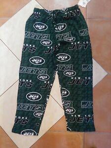 NWT NFL Team Apparel Sleepwear NY Jets Unisex Green Pajama Sleep Pants Size Med