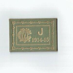 Melbourne Cricket Club Junior Members Ticket 1914 - 15