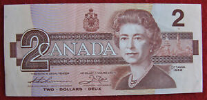 Bank of Canada $2 Note, 1986, Possibly Uncirculated