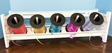 NEW Curling Ribbon Holder Storage Rack Organizer WHITE PLASTIC 1-Shelf MRHC1
