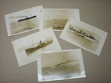 1929. S.S. HAI-CHING. PIRATED HONG KONG. H.M.S. SIRDAR RESCUE. 5 RPPC POSTCARDS