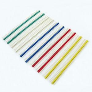 10X 2.54mm 1x40Pin Single Row Straight Male Copper Pin Header 4 PCB Ardu JG L*n8