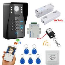 Wifi Wireles RFID Password Video Door Phone Doorbell Intercom+Electric Bolt Lock