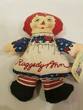 "Raggedy Ann Doll - Applause - Vintage 7"" cloth doll Christmas Ornament"