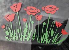 Car Window Decal - Poppys 2 Colour Vinyl Sticker  - Van, laptop, Wall