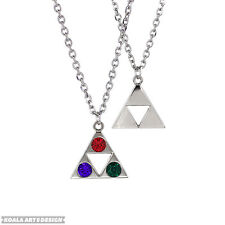 Silver Crystal The Legend of Zelda Triforce Cosplay Alloy Necklace Pendant Game