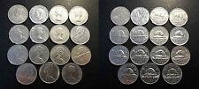 Canada - lot de x15 monnaies de 5 cents de 1928 à 1979