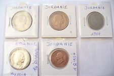 """LOT MONNAIES """"JORDANIE """" SOUS ETUIS & FEUILLE HB -SUPERBE A SAISIR !(1/03/16)"""